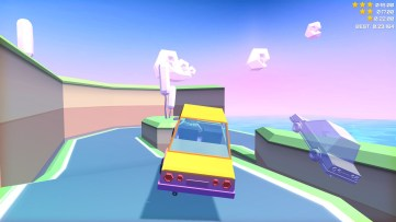Perform crazy barrel rolls, and then try to catch up with your ghost! Slowdrive, developed by Onebraverobot.