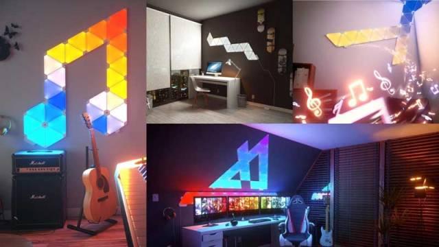 Pannelli led illuminazione stanza gaming