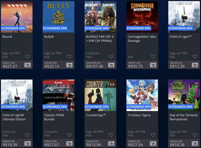 Promoções Playstation Store