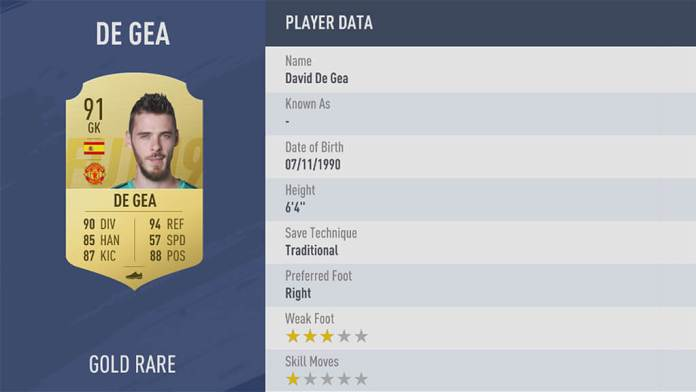 FIFA 19 - De Gea