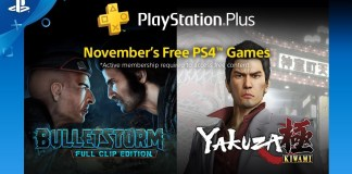 Playstation Plus, yakuza, Bulletstorm, Sony