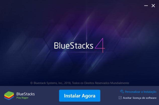 Bluestacks Free Fire Instalação