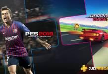 PlayStation Plus, PS Plus, Pro Evolution Soccer 2019, Horizon Chase Turbo