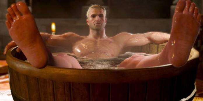 The Witcher cena da Banheira