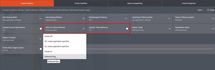 Radeon Control Panel - Configurações - FIFA
