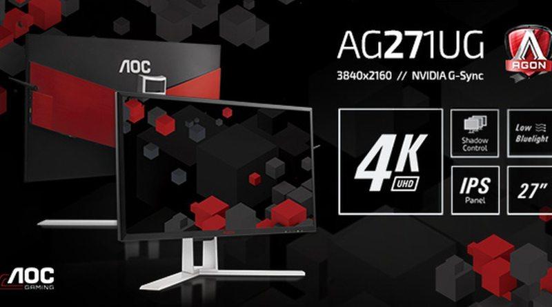 AGON AG271UG 4K UHD IPS Panel Gaming Monitor NVIDIA G-Sync Titel