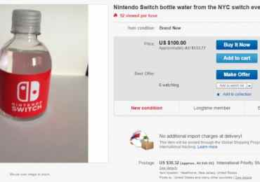 Un gamer vende en eBay botellas de agua de Nintendo Switch GAmersRD