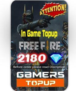 Free Fire 2180 Diamond Topup