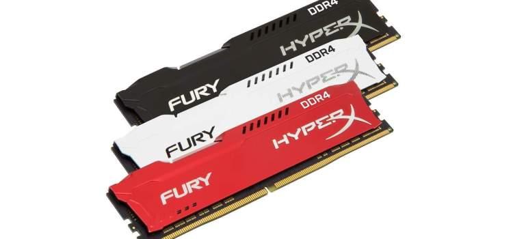 Crecen las líneas FURY DDR4 e Impact DDR4 de HyperX