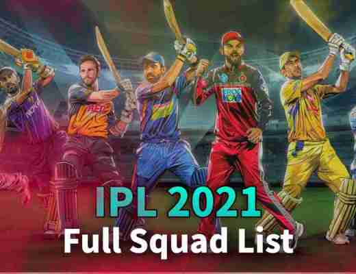 IPL 2021 Player List Of All 8 Teams