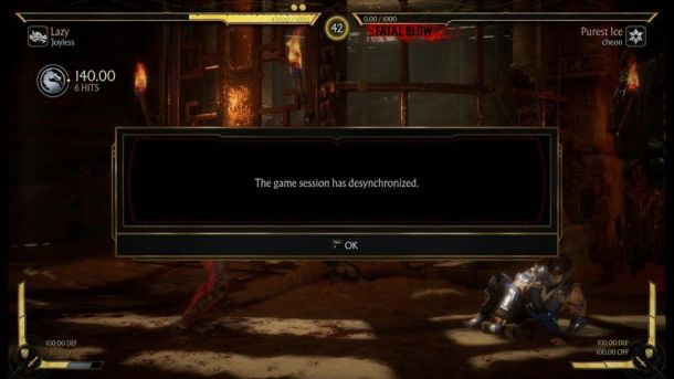 desync-message Mortal Kombat 11 Error Connecting to Server - Is There a Fix?