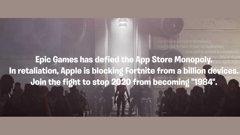 1984 apple fortnite video