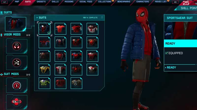 Image result for PS5 Miles morales suit screen