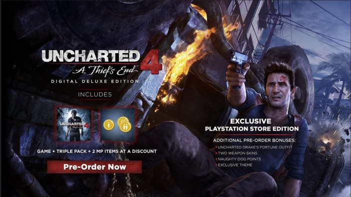 Uncharted 4 digital edition