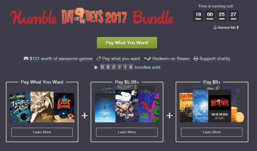 Humble Day Of The Devs Bundle 2017
