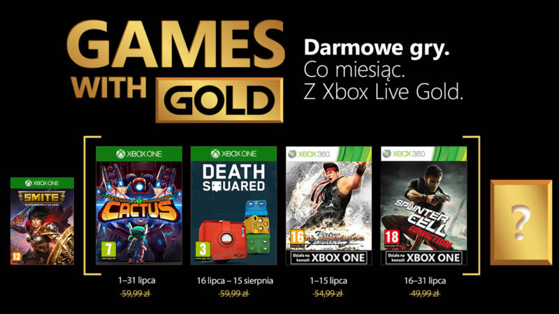 Games With Gold Lipiec 2018