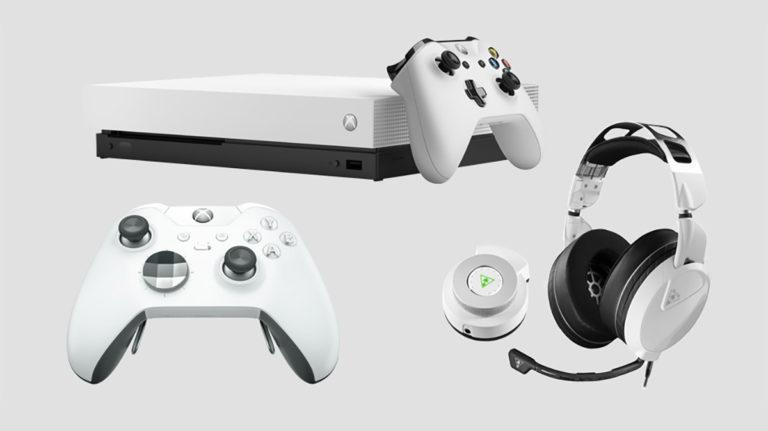 White Elite Bundle Xbox One X 768x431