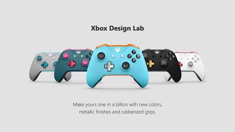 Xbox Design Lab 5 Controllers