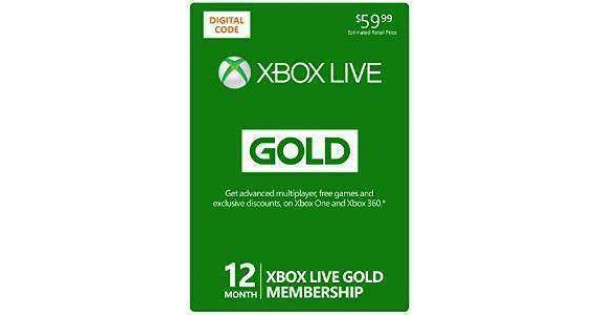 Xbox Live 12 Month Gold Membership Online Game Code