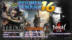 Resumen semana 16 The Division 2 - Sekiro - Nioh gameplays en gamerzos