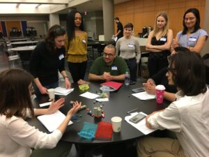 Participants at the 2020 CUNY Games Conference designing a game.