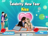 Celebrity New Year Kiss