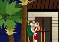 Romantic Beach Kiss