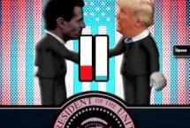Trump's Awkward Handshake 2