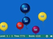 Balloon Pop Math – Multiplication – Level 1