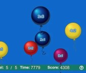 Balloon Pop Math - Multiplication - Level 1
