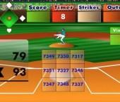Batter's Up Base Ball Math - Multiplication Game