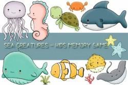 Kids Memory Sea Creatures