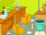 Clean Up My Laboratory Girl Games