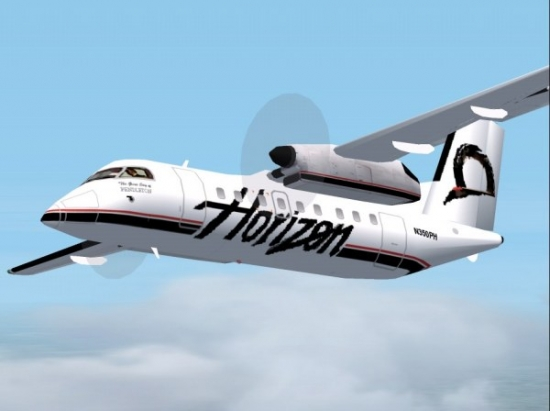Microsoft Flight Simulator 2004 Addon - Horizon Air DeHavilland Dash 8-200 screenshot 1