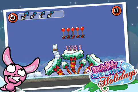 One of Bunny Shooter Christmas levels that I designed