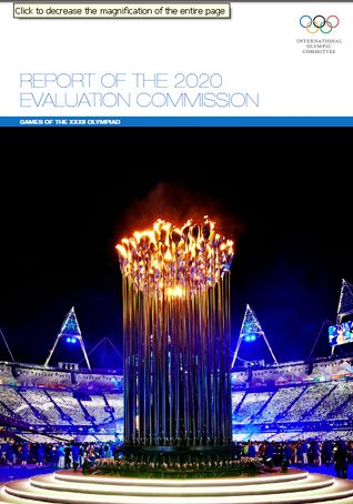 IOC Levels Playing Field With Release of 2020 Olympic Bid Evaluation Report
