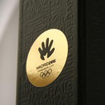 Madrid 2016 Bid Book with contributors names engraved on the cover