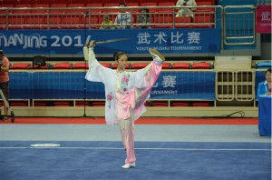 Wushu competed at the Nanjing 2014 Youth Olympic Games (IWUF Photo)