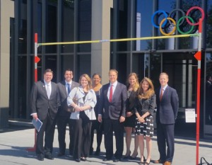 Boston 2024 Delegation visits Olympic Museum in Lausanne on May 26, 2015 (Photo: Boston 2024)