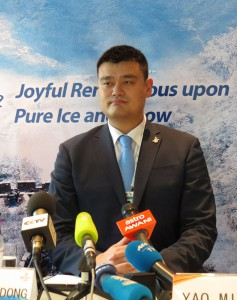 Chinese NBA Basketball star Yao Ming is athlete ambassador for Beijing 2022 (GamesBids Photo)
