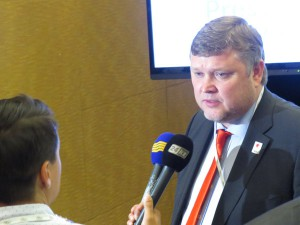 Almaty 2022 Co-Chair Andrey Kryukov interviewed In Kuala Lumpur ahead of election (GamesBids Photo)