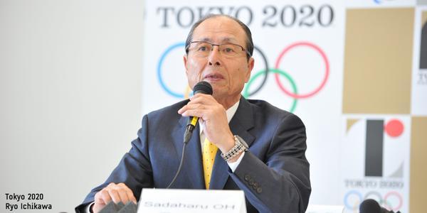 Japanese baseball Legend Sadaharu Oh presents for Baseball to be added to Tokyo 2020 sport programme (Tokyo2020/Twitter Photo)