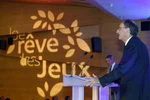 CNOSF President Denis Masseglia at Je rêve des Jeux presentation (CNOSF Photo)