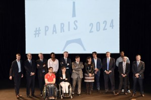 Paris 2024 Olympic Bid Committee at announcement of proposed Olympic Village in Seine-Saint Denis area (Paris 2024 Photo)
