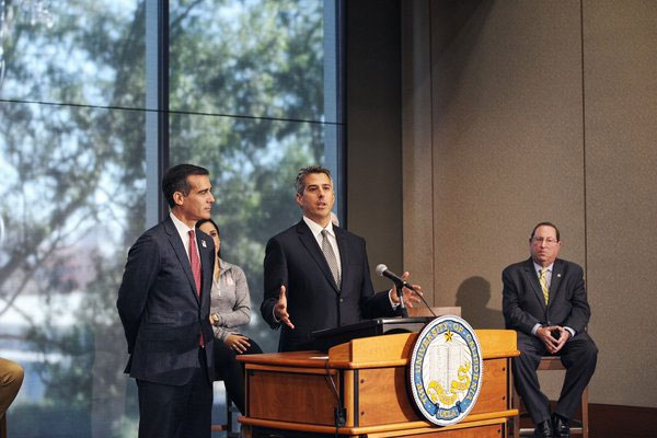 LA 2024 Chair Casey Wasserman Announces Venue Plans a UCLA January 25, 2015 (LA 2024 Photo)