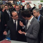 French President François Hollande and Paris 2024 Co-Chair Tony Estanguet at Onze Tricolour (Twitter Photo)