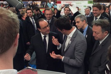French President Hollande Helps Promote Sustainable Paris 2024 Olympic Bid