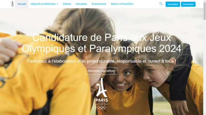 The French public is asked to join the Paris 2024 bid conversation at concertation.paris2024.org