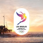 Los Angeles 2024 promotional image featuring the sun motif