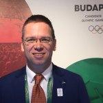 Budapest 2024 Bid Chairman Balázs Fürjes at Hungary House in Rio (GamesBids Photo)
